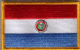 Paraguay Embroidered Flag Patch, style 08.
